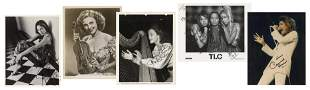 Collection of Autographed Photos of Female Musicians