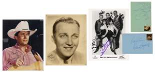 Collection of Autographed Photos and Cards of Male