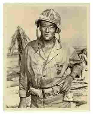 WAYNE, John (1907-1979). Autographed Photo of John