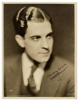 NOVARRO, Ramon (1899-1968). Autographed Lobby Photo of