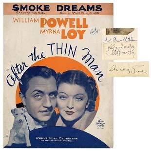 "POWELL, William, and Myrna Loy. ""Thin Man"""