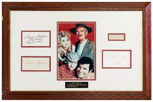 The Beverly Hillbillies Signed Display. Includes