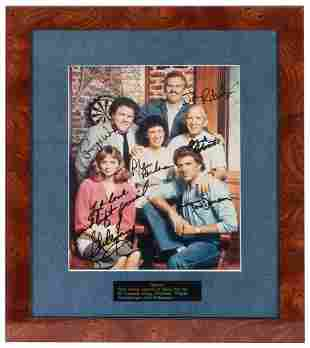 Cheers Signed Cast Photograph Display. Color photograph
