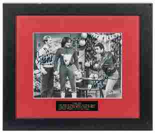 Happy Days Signed Photo Display. Black and white photo