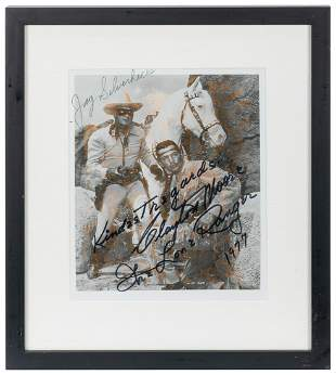 The Lone Ranger Signed Publicity Still. Signed by
