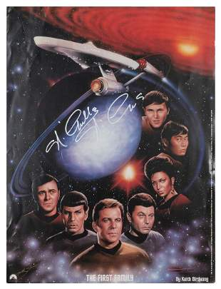 """Star Trek """"First Family"""" Print Signed by"""