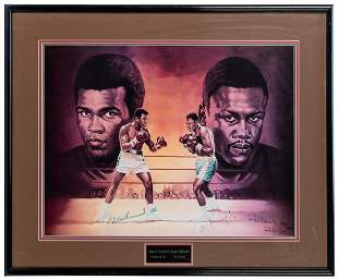 LEWIS, Ron (American). Muhammad Ali and Joe Frazier.