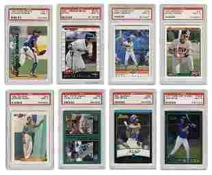 [BASEBALL]. Group of 22 PSA Mint Graded Baseball Cards.