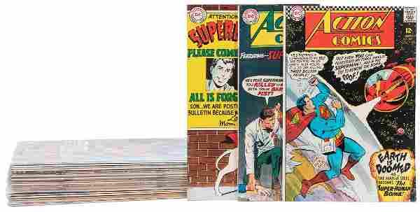 [DC COMICS]. A group of 24 comics featuring Superman,