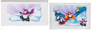"Original Milton Bradley ""Penguin Shuffle"""