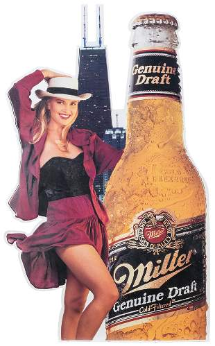 Miller Genuine Draft Metal Chicago Sign. Miller Brewing