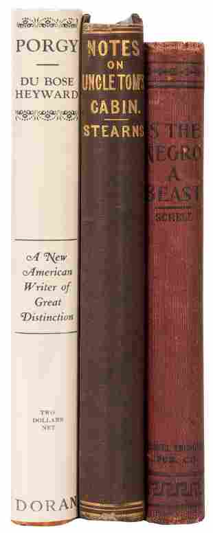 [AFRICAN AMERICANA]. A group of 3 titles, including: