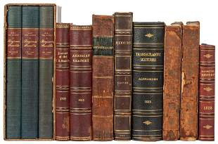 [AMERICANA]. A group of 11 volumes, including: Journal