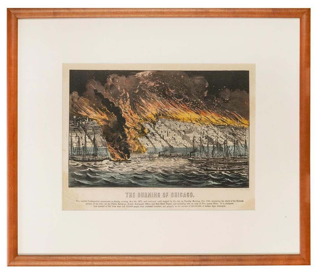 [CHICAGO]. CURRIER and IVES, publishers. The Burning of