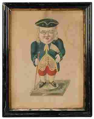 [FRANKLIN, Benjamin (1706–1790)]. Pen and wash