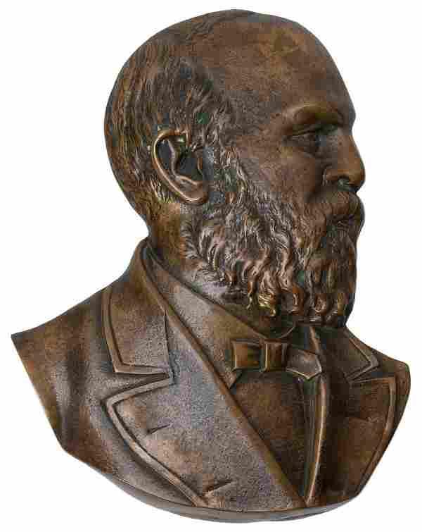 [GARFIELD, James A. (1831–1881)]. Bronze Memorial