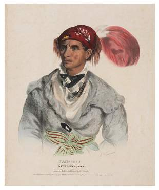 [McKENNEY & HALL]. Tah–Chee: A Cherokee Chief.