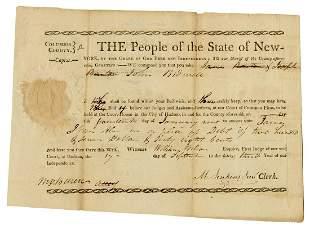 VAN BUREN, Martin (1782–1862). Early document