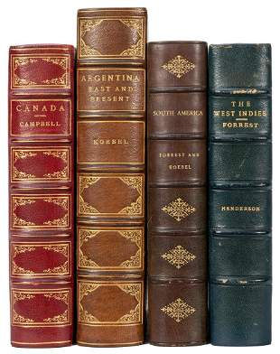 [TRAVEL]. A group of 4 finely bound titles, including: