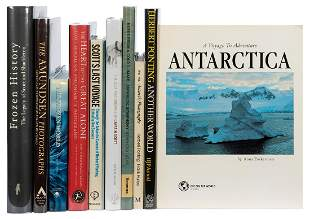 [ANTARCTIC EXPLORATION]. A group of over 50 art and