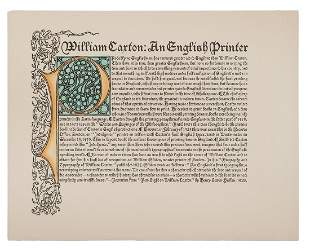 [CAXTON, William]. William Caxton: An English Printer.