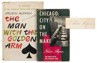 ALGREN, Nelson (1909–1981). Two signed titles,