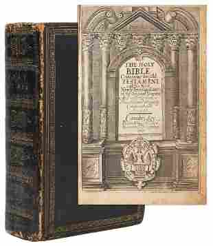 [BIBLE, in English]. The Holy Bible Containing the Old