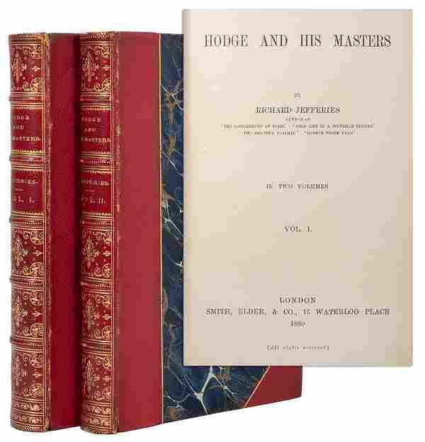 [BINDING]. JEFFERIES, Richard (1848–1887). Hodge