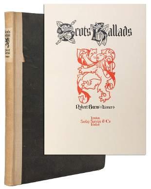 BURNS, Robert, artist (1869–1941). Scots Ballads.