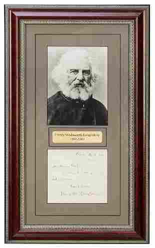 LONGFELLOW, Henry Wadsworth (1807–1882).