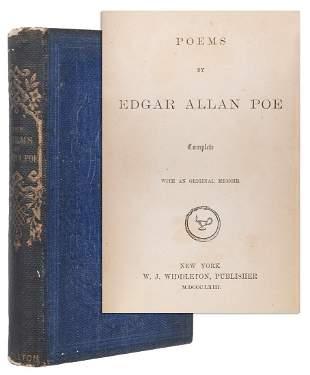 POE, Edgar Allan (1809–1849). Poems… with