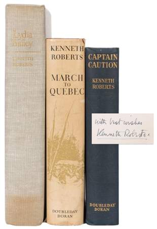 ROBERTS, Kenneth (1885-1957). Three signed titles,