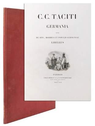 TACITUS, Cornelius (ca. 56-120 BCE). Germania... Paris: