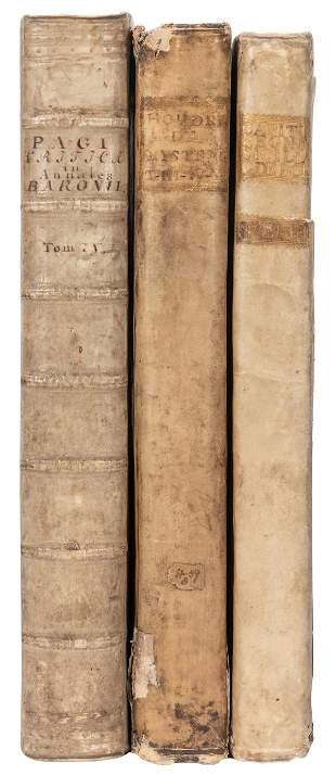 [VELLUM]. Three early folios bound in vellum,