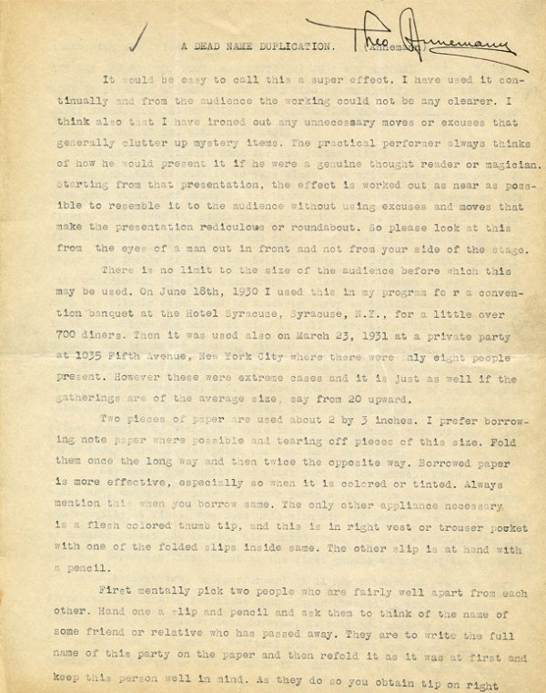 9: Theo Annemann (Theodore Squires). Archive