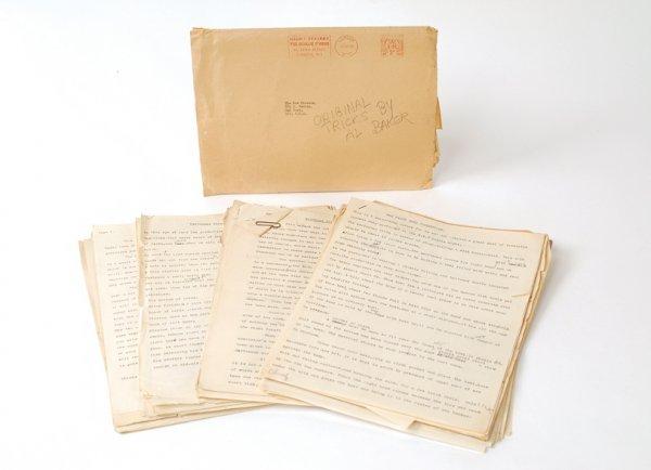 15: Original manuscript pages of Al Baker's magic trick