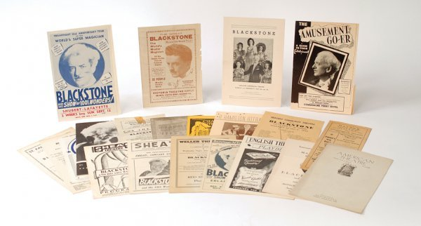 24: Collection of 21 Blackstone programs and playbills