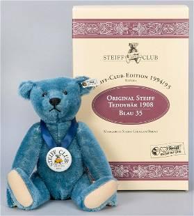 Steiff Club Teddy Bear Blue 1908 / 1994/95 LE Replica.
