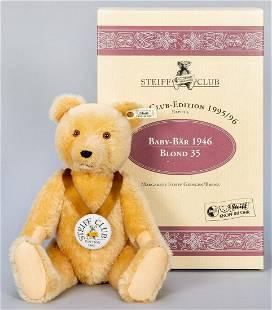 Steiff Club Baby Teddy Bear 1946 / 1995/96 LE Replica.