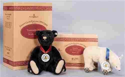 Steiff Club 1999 / 2000 Teddy Bear and Polar Bear Pair.