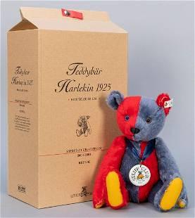 Steiff Club Harlequin Teddy Bear Red & Blue 1925 /