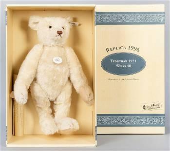 Steiff White Teddy Bear 1921 / 1996 LE Replica. Limited