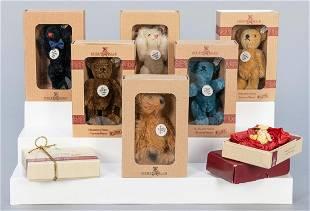 Steiff Club Miniature Teddy Bears. Group of 9. Nine