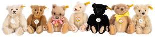 Steiff Historic Miniature Bears Lot (7). Including: