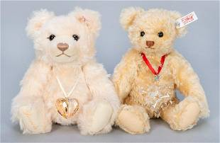 Pair of Steiff / Swarovski Crystal Teddy Bears.