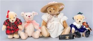 Group of 4 Steiff Limited Edition Teddy Bears.