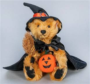 Steiff 2002 Halloween Witch Teddy Bear LE. Number 761