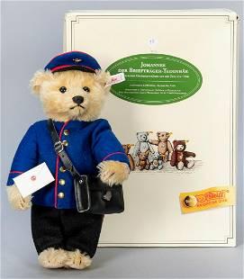 Steiff 1995 Johannes der Brieftrager Postman Teddy Bear