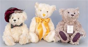 Trio of Steiff Limited Edition UK Teddy Bears. Three UK