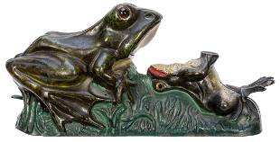 Two Frogs Bank. Cromwell, CT: J.E. Stephens, 1890s. The